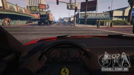 GTA 5 Ferrari Testarossa 512 TR 1991 для GTA 5 vista lateral direita