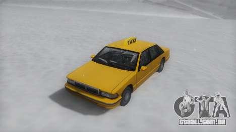 Taxi Winter IVF para GTA San Andreas vista direita