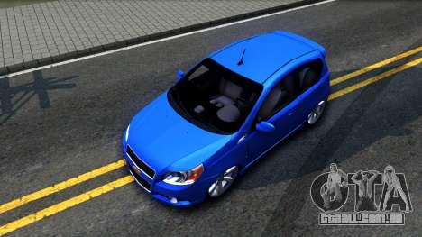 Chevrolet Aveo 2012 para GTA San Andreas vista traseira