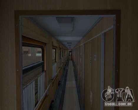 Compartimento de carro caminhos-de-ferro ucrania para GTA San Andreas vista inferior