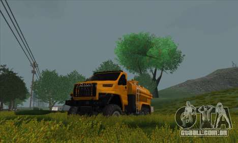 Ural Caminhão De Combustível Próximo para GTA San Andreas traseira esquerda vista