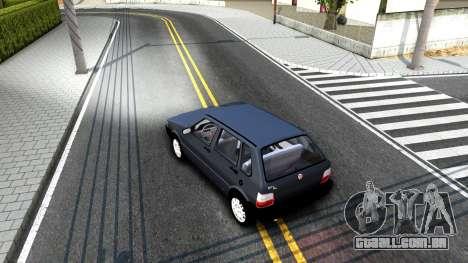 Fiat Uno Fire Mille V1.5 para GTA San Andreas vista direita