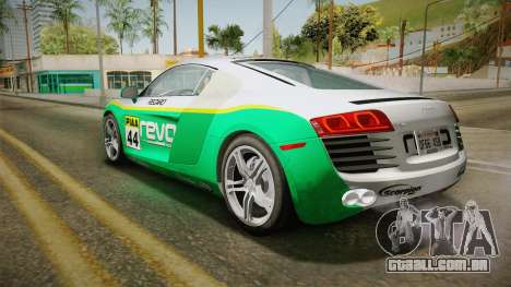 Audi R8 Coupe 4.2 FSI quattro US-Spec v1.0.0 YCH para GTA San Andreas vista superior