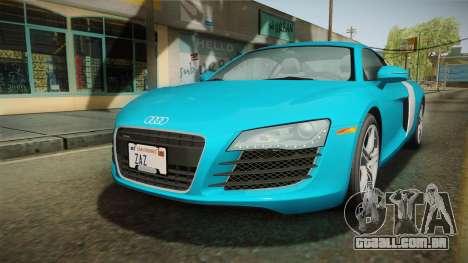 Audi R8 Coupe 4.2 FSI quattro US-Spec v1.0.0 v2 para GTA San Andreas traseira esquerda vista