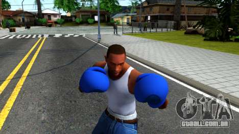 Blue Boxing Gloves Team Fortress 2 para GTA San Andreas terceira tela