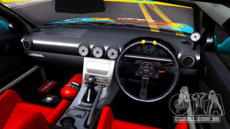 Taneshima Popura NISSAN Silvia S15 Itasha para GTA San Andreas vista interior