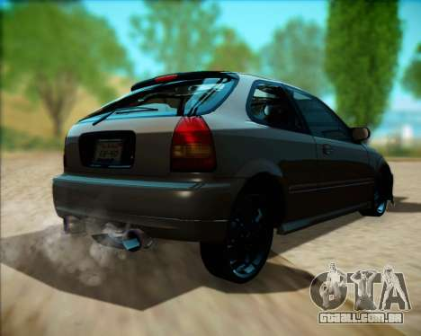 Honda Civic Hatchback para GTA San Andreas vista direita