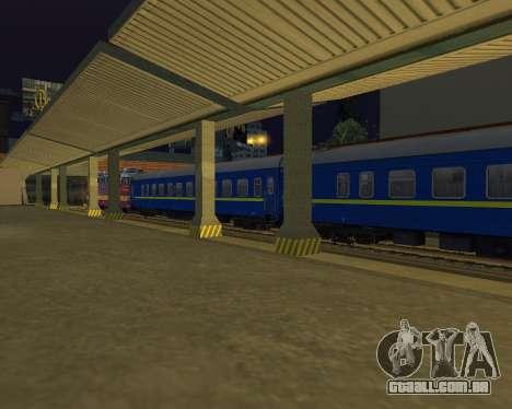 Compartimento de carro caminhos-de-ferro ucrania para GTA San Andreas vista traseira