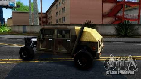 New Patriot GTA V para GTA San Andreas esquerda vista