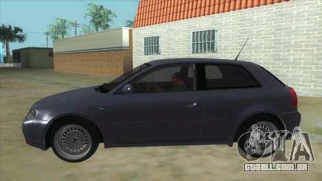 Audi S3 para GTA San Andreas esquerda vista
