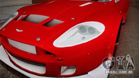 Aston Martin Racing DBRS9 GT3 2006 v1.0.6 YCH v2 para vista lateral GTA San Andreas