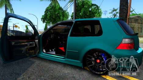 VW Golf 4 para GTA San Andreas vista interior
