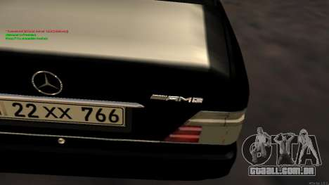 Mercedes-Benz W124 E500 Armenian para GTA San Andreas vista interior