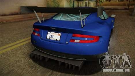 Aston Martin Racing DBR9 2005 v2.0.1 Dirt para GTA San Andreas interior