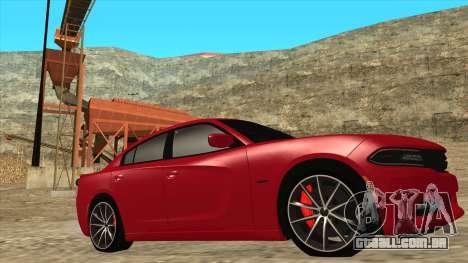 Dodge Charger R/T 2015 para GTA San Andreas esquerda vista