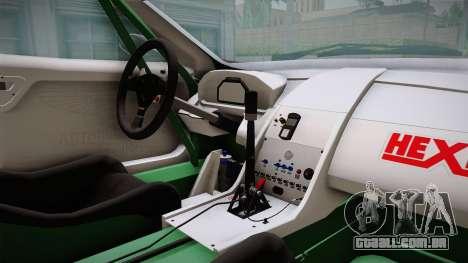 Aston Martin Racing DBRS9 GT3 2006 v1.0.6 YCH v2 para GTA San Andreas vista interior