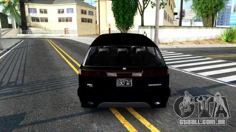 2010 Dinka Perennial Unmarked para GTA San Andreas traseira esquerda vista