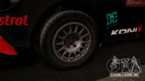 Audi RS3 Sportback Rally WRC para GTA San Andreas vista traseira
