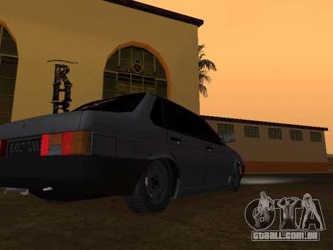 VAZ 21099 BPAN para GTA San Andreas traseira esquerda vista
