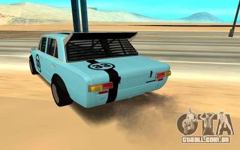 VAZ 2101 Autosport para GTA San Andreas traseira esquerda vista