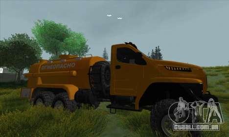 Ural Caminhão De Combustível Próximo para GTA San Andreas vista traseira