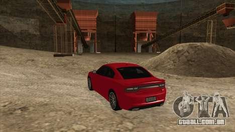 Dodge Charger R/T 2015 para GTA San Andreas traseira esquerda vista