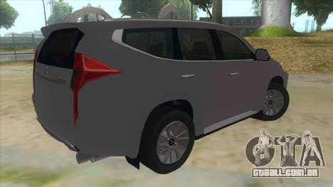 2016 Mitsubishi Montero Sport para GTA San Andreas vista direita