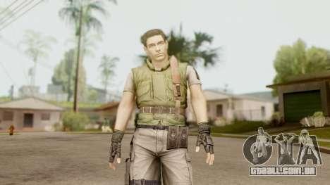 Resident Evil HD - Chris Redfield S.T.A.R.S para GTA San Andreas segunda tela