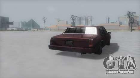 Tahoma Winter IVF para GTA San Andreas esquerda vista