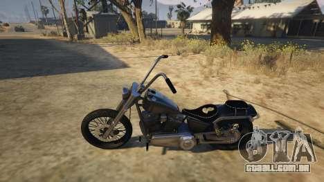 GTA 5 Daemon SOA Harley-Davidson traseira direita vista lateral