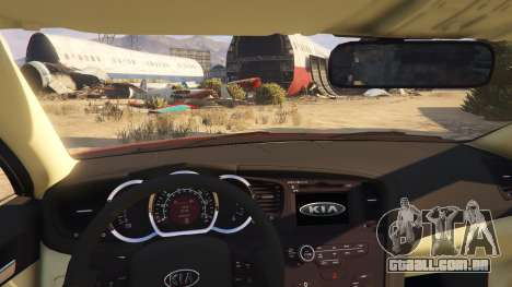 GTA 5 KIA Optima 2014 traseira direita vista lateral