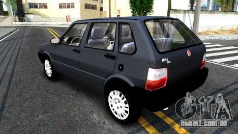 Fiat Uno Fire Mille V1.5 para GTA San Andreas traseira esquerda vista