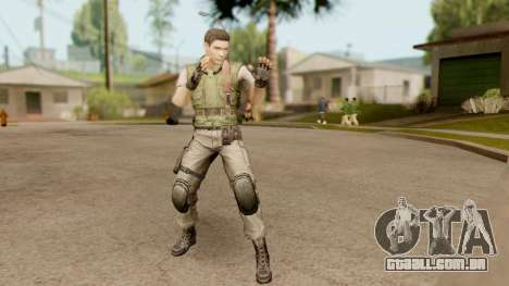 Resident Evil HD - Chris Redfield S.T.A.R.S para GTA San Andreas