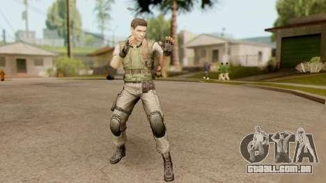 Resident Evil HD - Chris Redfield S.T.A.R.S para GTA San Andreas