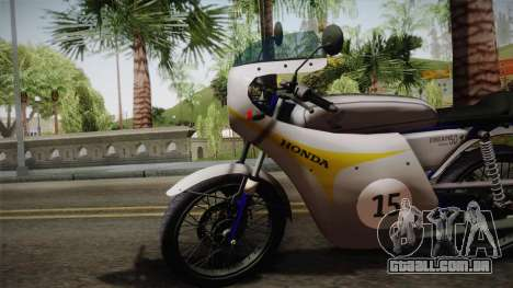 Honda Dream (RC142) 1988 para GTA San Andreas traseira esquerda vista