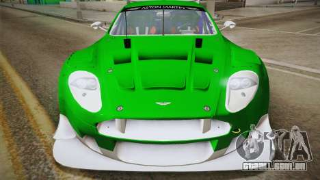 Aston Martin Racing DBR9 2005 v2.0.1 YCH Dirt para GTA San Andreas vista direita