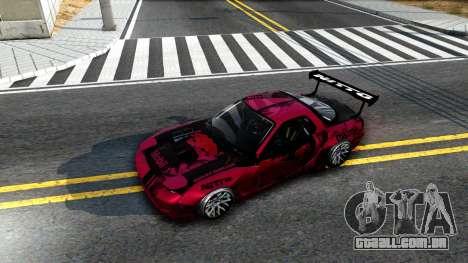 Mazda RX-7 Madbull Rocket Bunny para GTA San Andreas vista traseira
