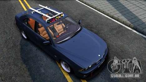 BMW e39 530d para GTA San Andreas vista direita