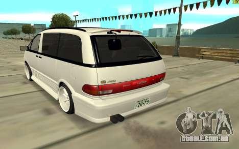 Toyota Estima para GTA San Andreas traseira esquerda vista