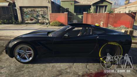 GTA 5 Drag Chevrolet Corvette C7 vista lateral esquerda