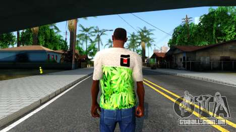 Design Weedleaves T-Shirt para GTA San Andreas terceira tela