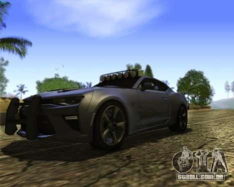 Chevrolet Camaro SS Xtreme para GTA San Andreas vista interior