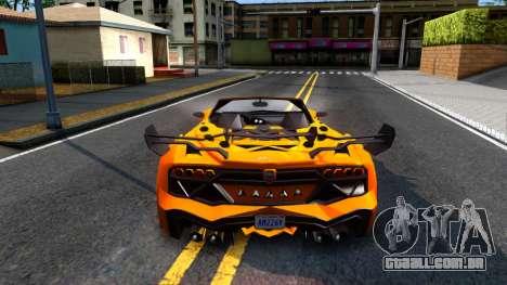 GTA V Pegassi Lampo Roadster para GTA San Andreas traseira esquerda vista