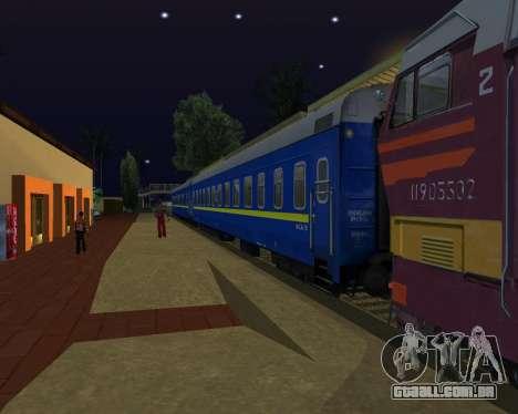 Compartimento de carro caminhos-de-ferro ucrania para GTA San Andreas esquerda vista