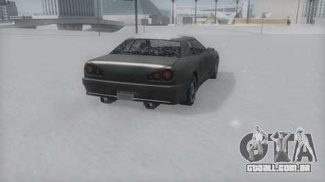 Elegy Winter IVF para GTA San Andreas traseira esquerda vista