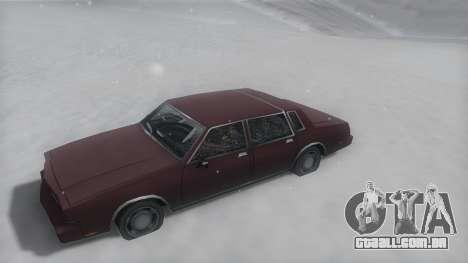 Tahoma Winter IVF para GTA San Andreas vista direita