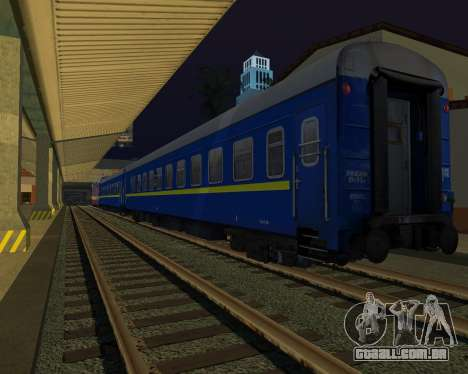 Compartimento de carro caminhos-de-ferro ucrania para GTA San Andreas vista direita