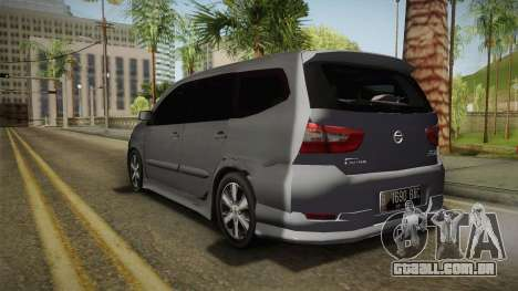 Nissan Grand Livina Highway Star para GTA San Andreas esquerda vista
