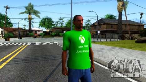 T-Shirt Xbox1 para GTA San Andreas segunda tela