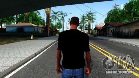 GTA Online T-Shirt para GTA San Andreas terceira tela